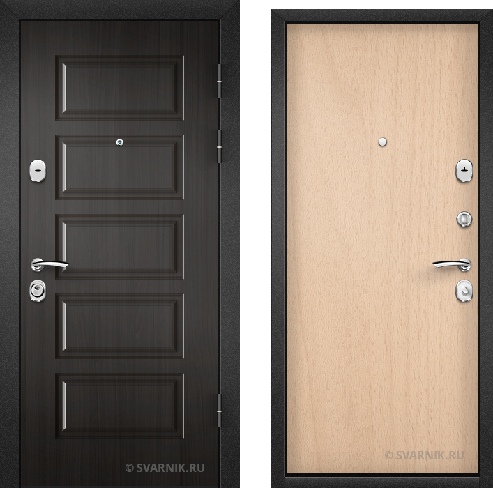 Дверь металлическая с шумоизоляцией в квартиру МДФ - ламинат